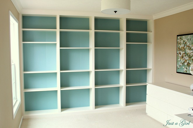 Ikea Hack Built In Billy Bookcases